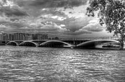 Chelsea Prints - London Thames Bridges BW Print by David French