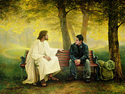 Park Bench Prints - Lost and Found Print by Greg Olsen
