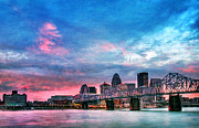 Riverfront Prints - Louisville Kentucky Print by Darren Fisher