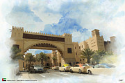 United Airline Framed Prints - Madinat Jumeirah Framed Print by Catf