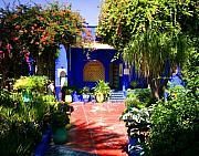Northern Africa Framed Prints - Majorelle Garden Marrakesh Morocco Framed Print by ArtPhoto-Ralph A  Ledergerber-Photography