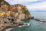 Cliff Framed Prints - Manarola Framed Print by Joana Kruse
