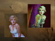 Photo Manipulation Mixed Media Framed Prints - Marilyn Monroe Framed Print by EricaMaxine  Price