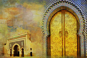 Rabat Paintings - Medina of Faz by Catf