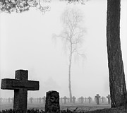 Forest Terror Prints - Mist At Cemetery Print by Dirk Ercken