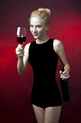 Winetasting Metal Prints - Model holding wine glass  Metal Print by Christin Slavkov