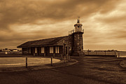 John Collier Framed Prints - Morecambe Lighthouse Framed Print by John Collier