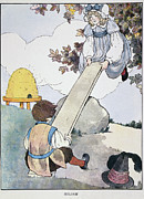 Seesaw Framed Prints - Mother Goose, 1916 Framed Print by Granger