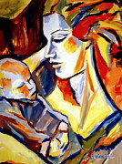 Original For Sale Prints - Motherhood Print by Helena Wierzbicki