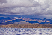 Tibet Prints - Mountain lake in tibet Print by Raimond Klavins