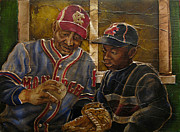 Baseball History Painting Posters - Negro League Story Poster by Anthony High