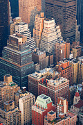 Midtown West Prints - New York City Manhattan skyline aerial view Print by Songquan Deng