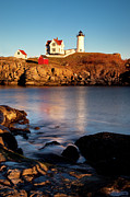 Nubble Lighthouse Photo Framed Prints - Nubble Lighthouse Framed Print by Brian Jannsen