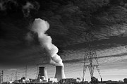 Gas Tower Prints - Nuclear Power Plant Print by Dirk Ercken