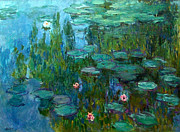 Jardins Painting Metal Prints - Nympheas  Metal Print by Claude Monet