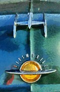 Vintage Hood Ornament Painting Prints - Oldsmobile 98 Deluxe Holiday Sedan 1951 Print by George Atsametakis