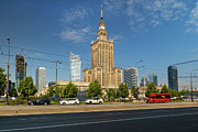 Polish Culture Prints - Palace of Culture and Science in Warsaw Print by Artur Bogacki