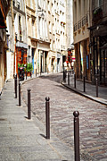 Curved Prints - Paris street Print by Elena Elisseeva
