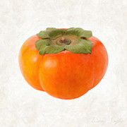 Ingredient Painting Framed Prints - Persimmon Framed Print by Danny Smythe