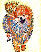 Dog Posters - Pomeranian Poster by Char Swift