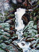 Waterfalls Paintings - Poudre Falls by Gloria Koch