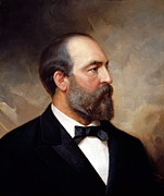 Americana Paintings - President James Garfield by War Is Hell Store