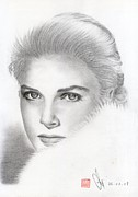 Princess Grace Prints - Princess Grace Kelly Print by Eliza Lo