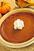 Round Photo Prints - Pumpkin pie Print by Elena Elisseeva