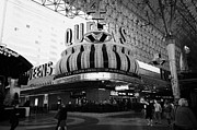 Freemont Street Prints - 4 queens Las Vegas casino hotel freemont street Nevada USA Print by Joe Fox