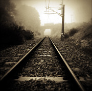 Train Tracks Photos - Railway tracks by Les Cunliffe