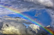 Genesis Photos - Rainbow in Clouds by Thomas R Fletcher