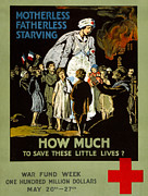 Fundraising Framed Prints - Red Cross Poster, 1917 Framed Print by Granger