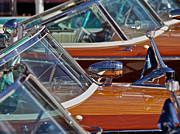 Mahogany Framed Prints - Riva Aquarama Framed Print by Steven Lapkin