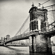Old Bridge Photos - Roebling Suspension Bridge by Tanya Harrison