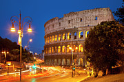 Italian Night Life Prints - Roman Coliseum Print by Brian Jannsen
