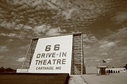 Outdoor Theater Framed Prints - Route 66 Drive-In Theatre Framed Print by Frank Romeo