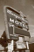 Marquee Framed Prints - Route 66 - Munger Moss Motel Framed Print by Frank Romeo