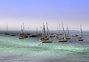 Rights Managed Framed Prints - Sailboats in Harbor Framed Print by Anthony Dezenzio
