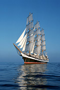 Calm Waters Posters - Sailing ship Poster by Anonymous