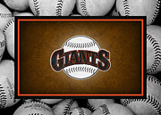 Baseball Bat Photo Framed Prints - San Francisco Giants Framed Print by Joe Hamilton