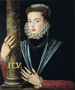 Portrait Of Woman Photo Framed Prints - Sanchez Coello, Alonso 1531-1588 Framed Print by Everett