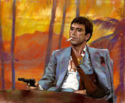 Mobsters Framed Prints - Scarface Framed Print by Viola El