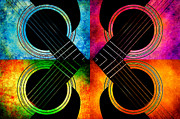 All - 4 Seasons Guitars Abstract by Andee Photography