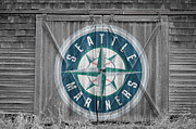 Baseball Glove Posters - Seattle Mariners Poster by Joe Hamilton