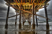 Skates Prints - Shooting the Newport Pier Print by RTK Fine Art Photography