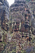 Asien Framed Prints - Smiling Faces of Bayon Framed Print by Joerg Lingnau
