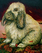 Linda Simon Framed Prints - Some Bunny is a Honey Framed Print by Linda Simon