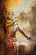 Cultural Painting Metal Prints - South Asian Art Metal Print by Corporate Art Task Force