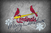 Christmas Doors Framed Prints - St Louis Cardinals Framed Print by Joe Hamilton