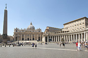 Cathedrals Framed Prints - St Peters Square. Vatican City. Rome. Lazio. Italy. Europe  Framed Print by Bernard Jaubert
